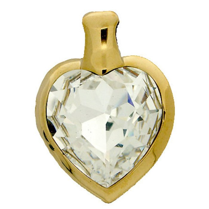 Beautiful  TITANIC pendant with a 27 x 28 mm crystal. This pendant will be a incredible eye catcher on every neck!