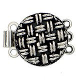 metal clasp with 3 rows and spring tongue mechanism 13512-03-25-00-000