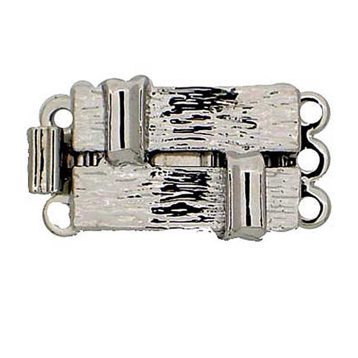 Clasp with perforated and structurated surface