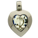 Heart pendant with a 15,4 x 14 mm crystal. 66848-00-06-00-001