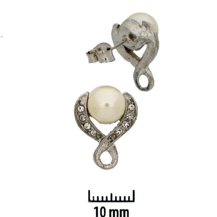 This earstud base with its integrated ring offers the possibility to apply one or more jewelry components like beads, pendants etc.