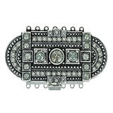 clasp with 7 rows and spring tongue mechanism; Colours of Crystals: black diamond 14703-07-25-00-215
