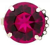 Clasp with spring tongue mechanism; Colour of Crystal: Fuchsia 14710-05-06-00-502
