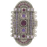 clasp with 7 rows and spring tongue mechanism; Colours of Crystals:amethyst, tanzanite, violet 14703-07-25-00-a15
