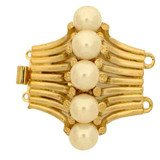 clasp with 2 rows and spring tongue mechanism; size of pearls 6 mm 13656-02-01-00-p01