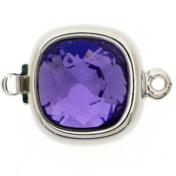 Clasp with spring tongue mechanism; Colour of the stone: Tanzanite