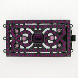 art deco box clasps with with Swarovski crystals colour:fuchsia, light rose, amethyst 14458-03-54-0n-a39