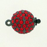 Ball clasp with springtongue mechanism colour: hyacinth