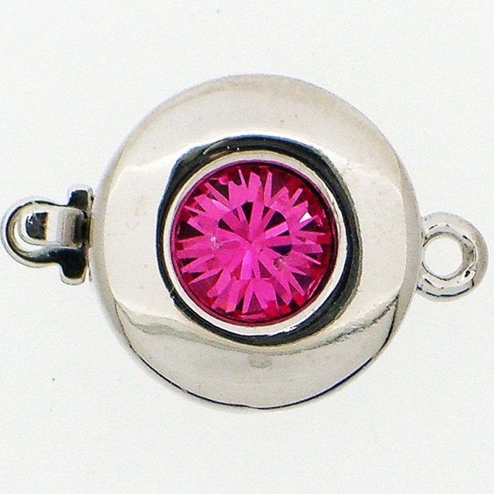 Clasp with spring tongue mechanism; Colour of the stone: Rose