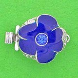 1 row clasp with spring tongue mechanism;  Colour of the middlestone:sapphire; Colour of enamel: royal blue 14801-01-06-90-a01