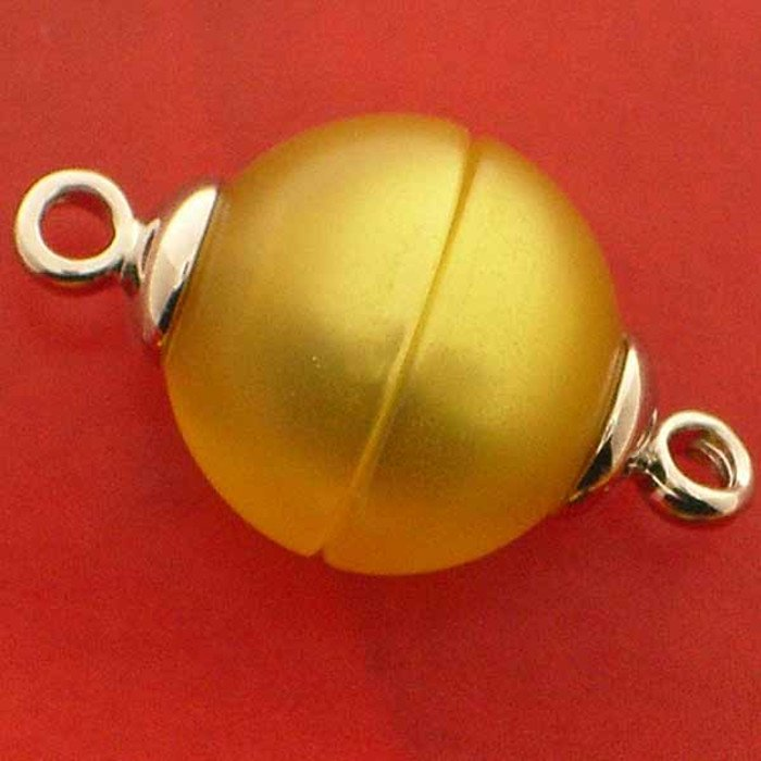 Polaris clasp magnetic; colour: shiny yellow; Colour differences depending on production lots are possible.