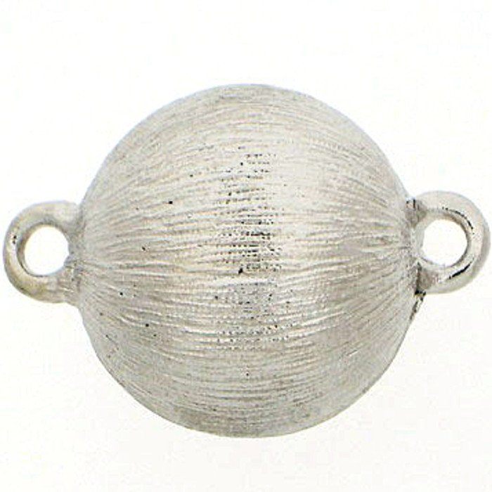 Ball clasp magnetic with soft structurated surface