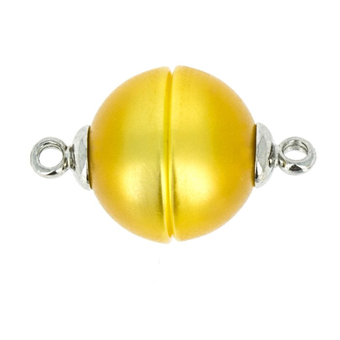 Polaris-clasp magnetic; colour: shiny yellow; Colour differences depending on production lots are possible.