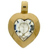 Heart pendant with a 15,4 x 14 mm crystal.