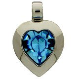 Heart pendant with a 15,4 x 14 mm crystal in aquamarine. Only until stock lasts! 66848-00-06-00-202