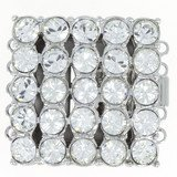 box clasp for 5 strands with rhinestones 12133-05-06-00-001