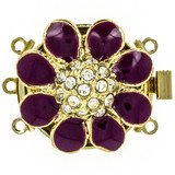 3 rows enamelled clasp with spring tongue mechanism ; Colour: fuchsia 13371-03-01-90-E03