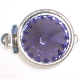 1-row Clasp with springtongue mechanism; rivoli stone no.SS 47 ; stone colour no. 539 tanzanite 14875-01-06-00-539