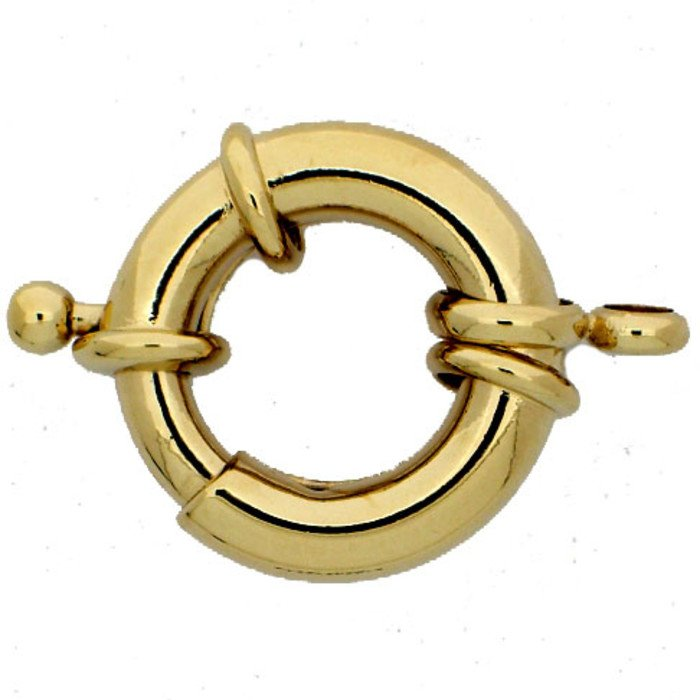 Lobster ring with one Spring ring; You will find another fitting spring ring under no 00345