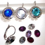 Earhook for own creations.Delivery without stone! It is possible to glue in a Swarovski crystal, size SS39. 27040-02-06-00-00x