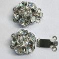 Clasp with 3 rows and springtongue mechanism with 6 Swarovski-Cristals replacement for clasp 12897 12898-03-06-00-001