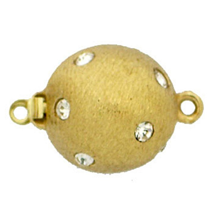 Ball clasp with spring tongue mechanism and satinated surface