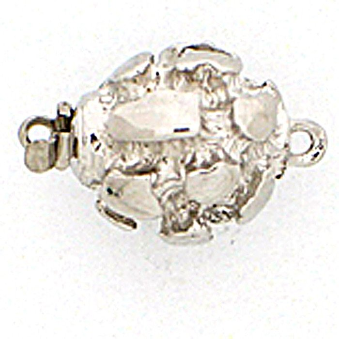 Ball clasp with conspicuous structurated surface