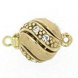 Ball clasp with perforated surface