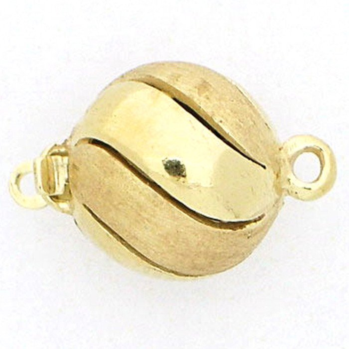 Ball clasp with mixed surface in smooth and satinized