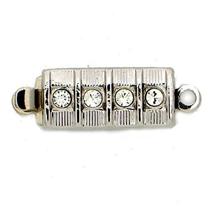 Clasp with 1 row and springtongue mechanism