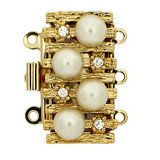 pearl clasp with 3 rows