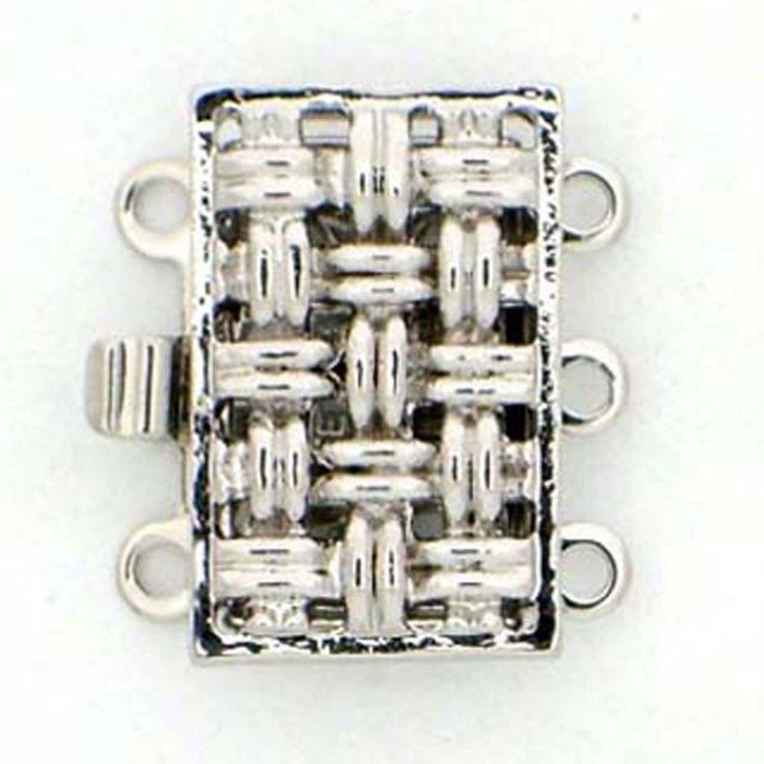 metal box clasp 3 strands