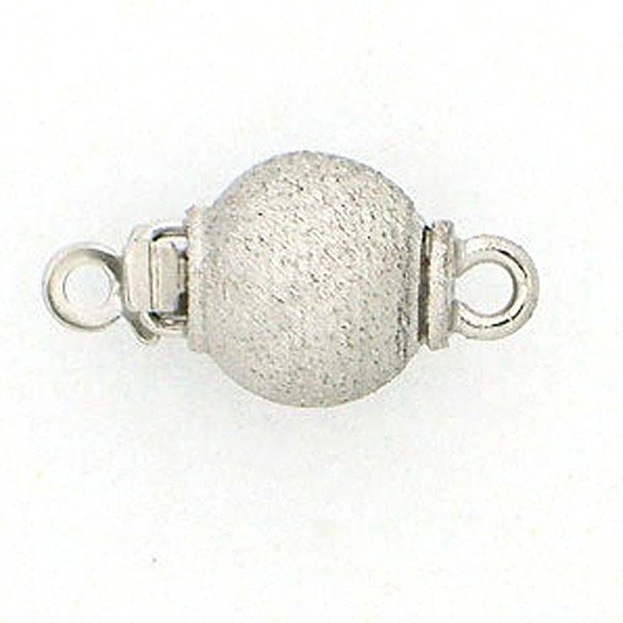 ball clasp with satinized surface