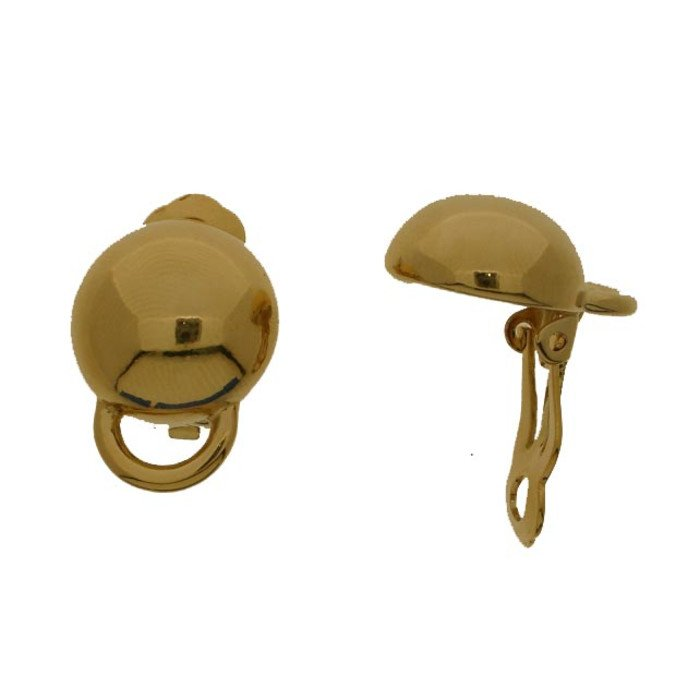 This ear clip with its integrated ring offers the possibility to apply one or more jewelry components like beads, pendants etc.
